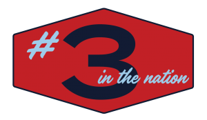 A graphic illustrating the office's number 3 national ranking