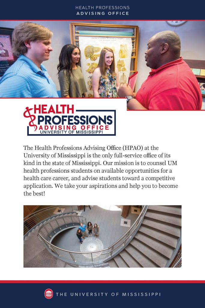 Health Professions Advisory Office Recruitment Brochure