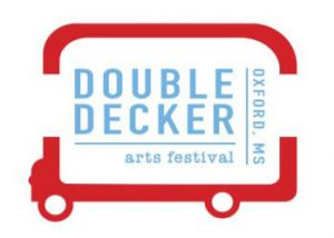 """A graphic that says """"Double Decker Arts Festival 