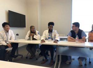 Ole Miss Health Profession/prospective med school students talking to current med school students.